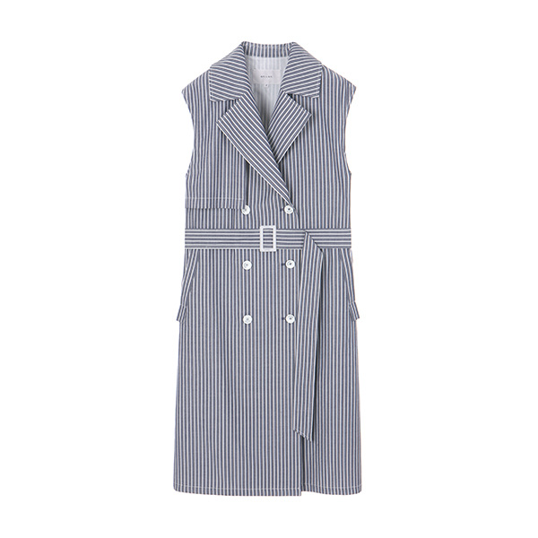 TRECH STRIPE TWO-WAY VEST_NAVY NE8MV3040