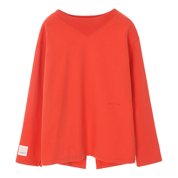 CENTER BACK VENT T-SHIRT_ORANGE NE8SE0880