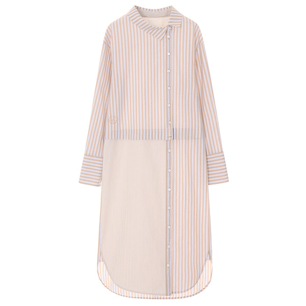 온앤온에디션[온앤온에디션] UNUIQE LAYERD SHIRT DRESS_BEIGE NE8SO0750