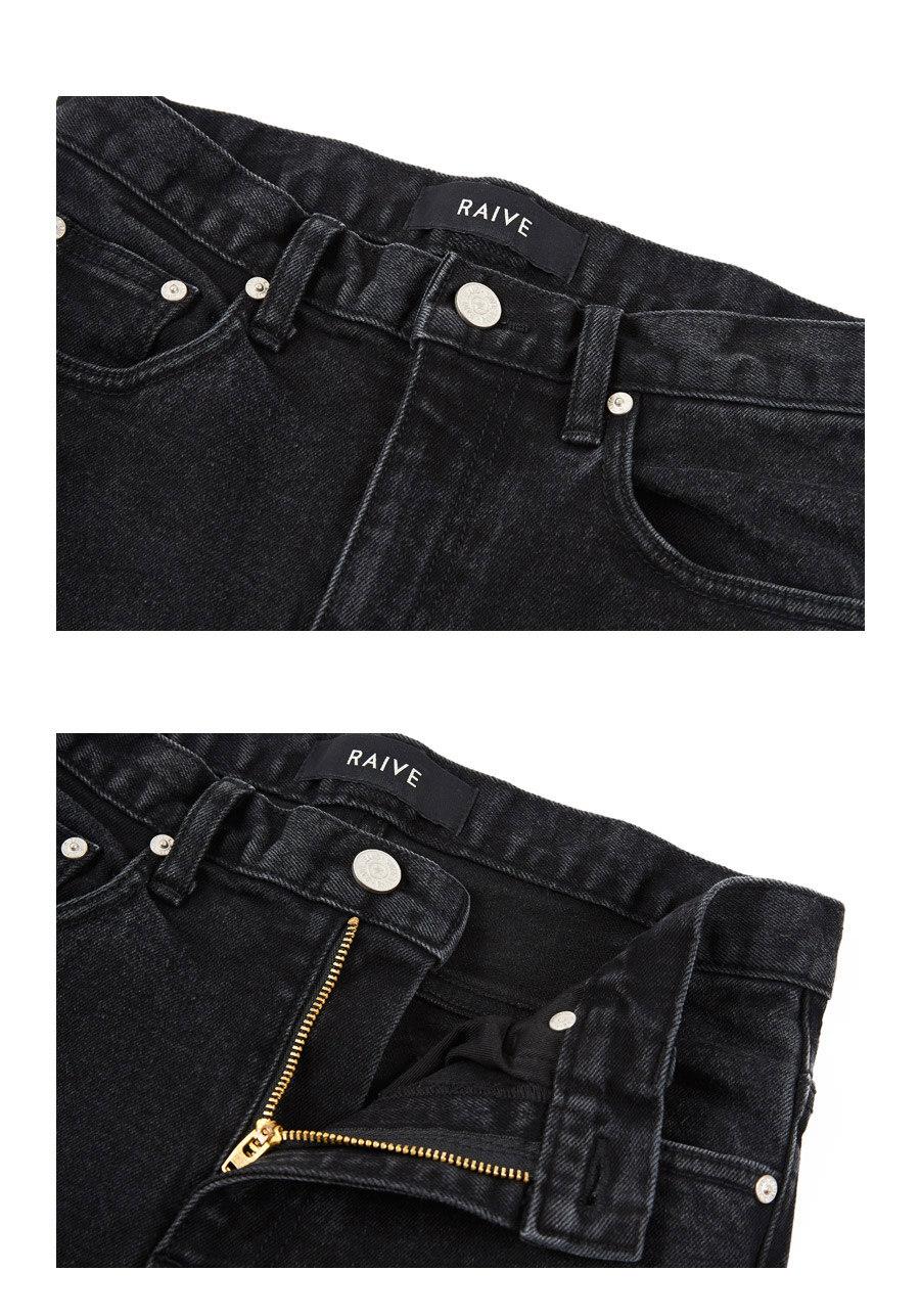 레이브(RAIVE) Ripped Bootcut Jeans (Black)_VJ8AL0850