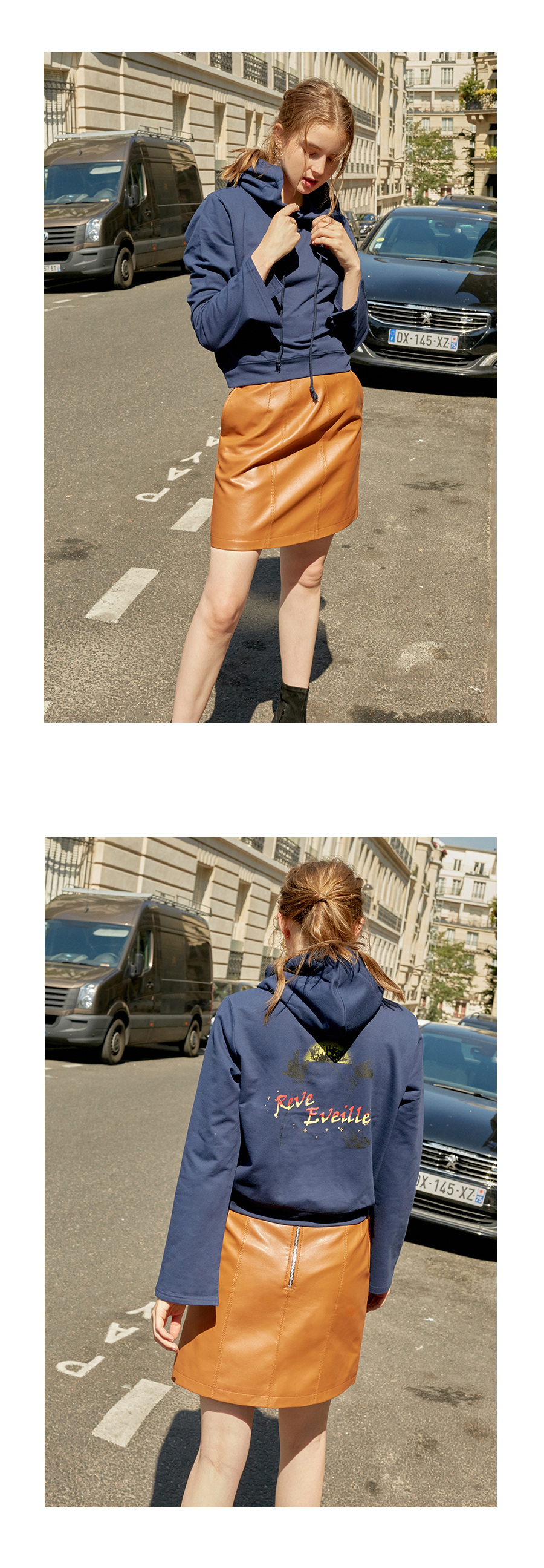 레이브(RAIVE) Cropped Hoodie Sweatshirt (Grey)_VW8AE0620
