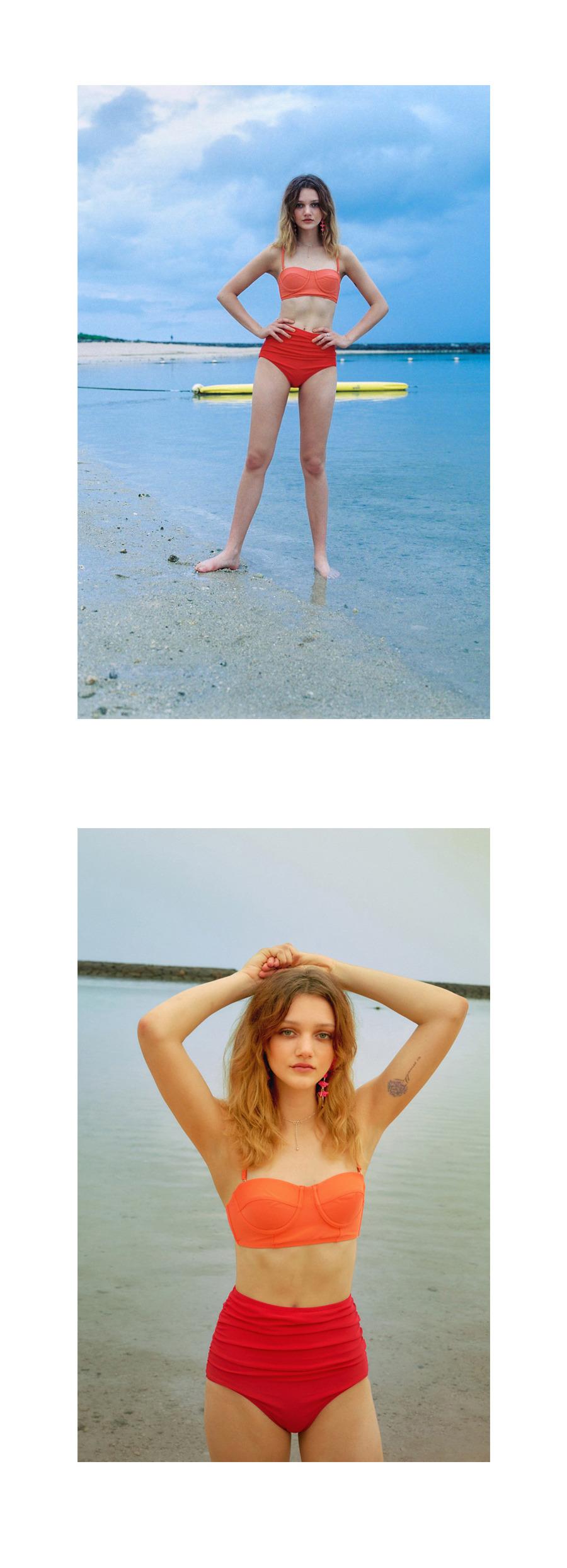 레이브(RAIVE) Colorful High-Waist Bikini Bottom (Navy)_VW8MX0960