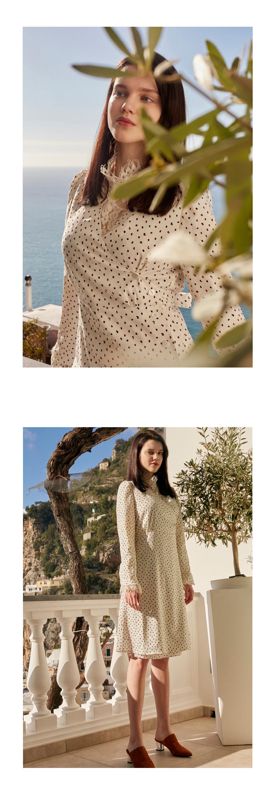 ★Shin hye-sun, Lee Sung-kyung, Joy`s Pick★ Wrap V-neck Dress (VW8SO0430) –  White