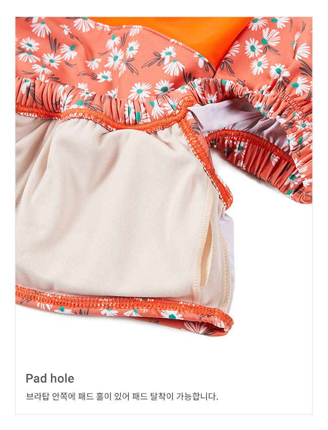 레이브(RAIVE) Flower Print Flare Bikini in Orange_VW9MX0950