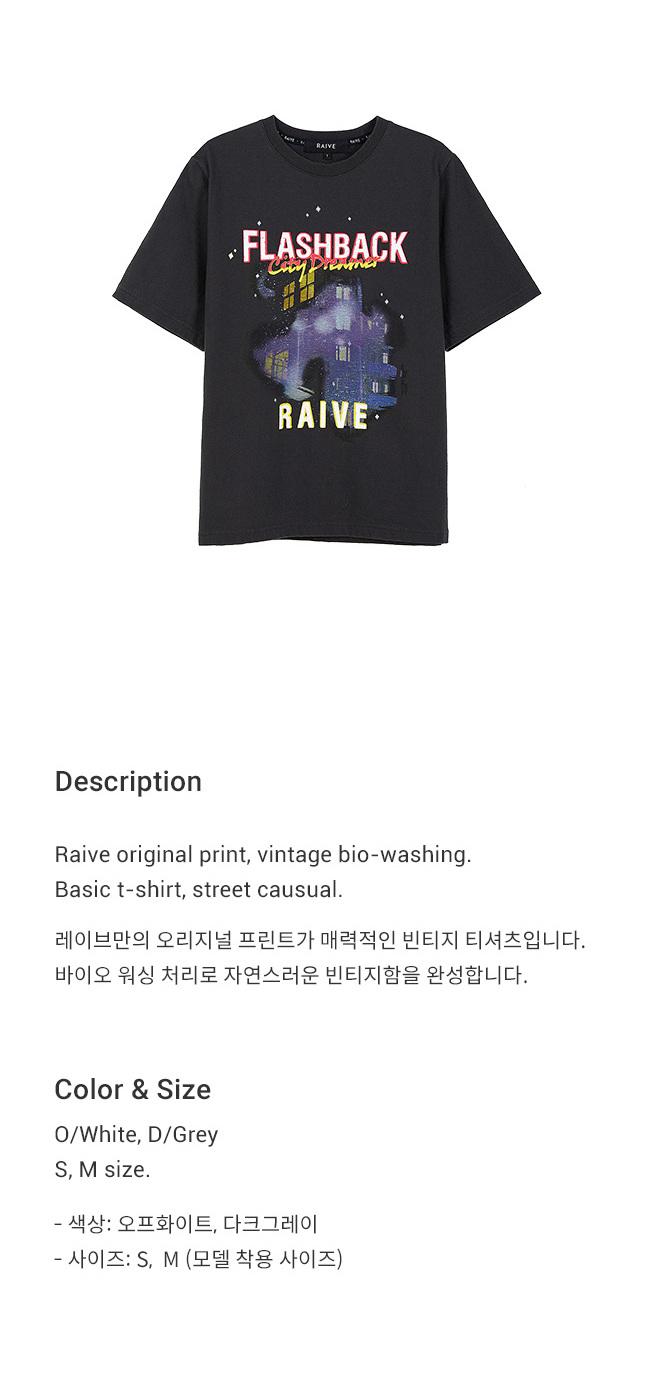 레이브(RAIVE) City Dreamer Print Tee in D/Grey_VW9SE0210