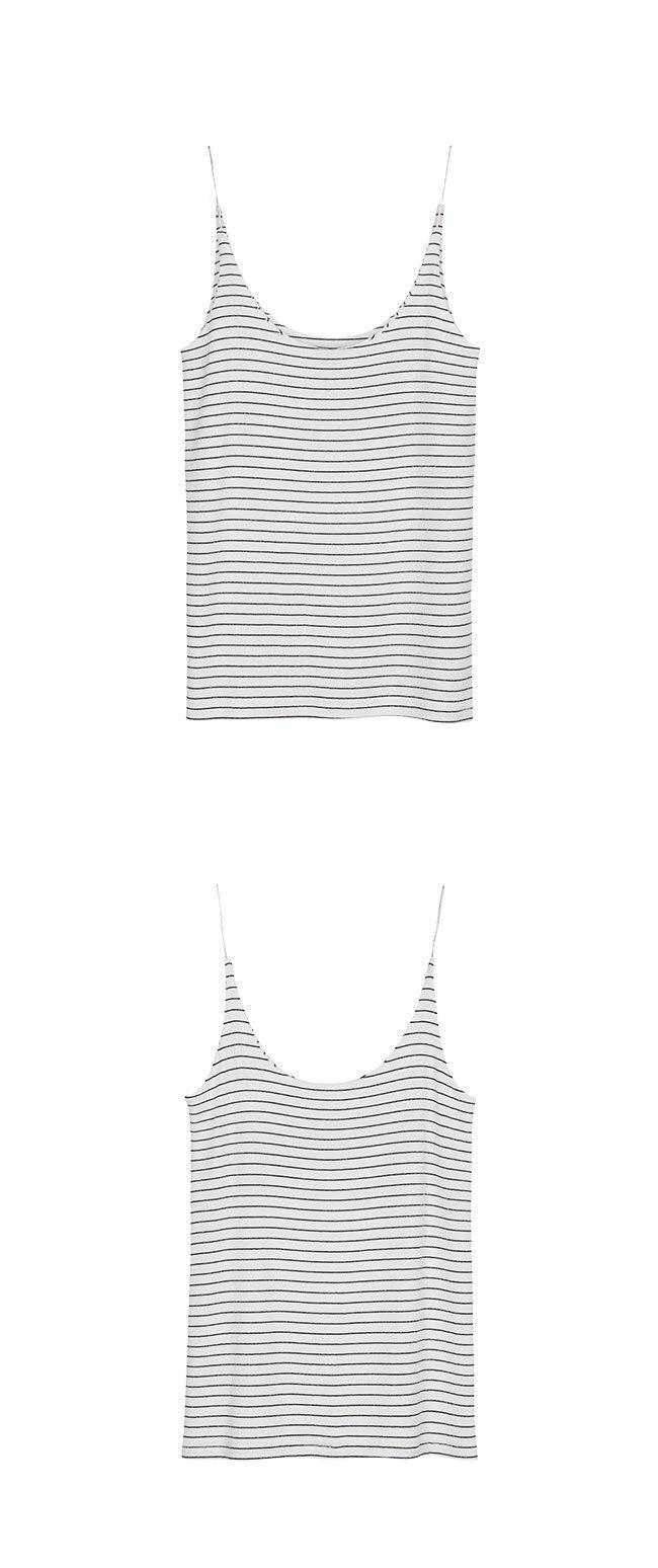 레이브(RAIVE) Stripe Strap Sleeveless in White_VW0ME1610
