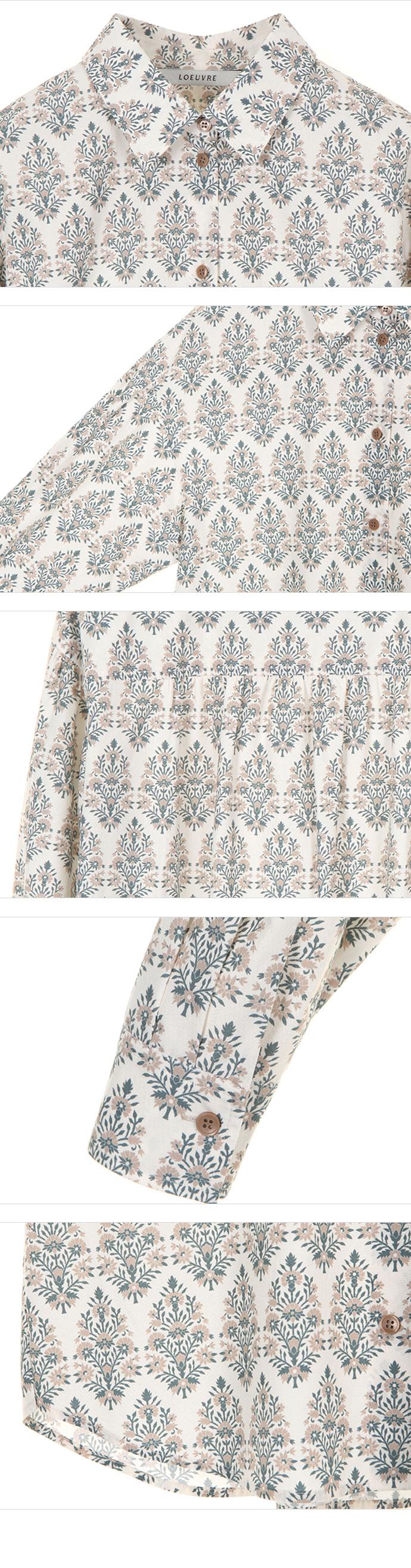 루에브르(LOEUVRE) Floral Shirring Blouse SW1SB117-DW