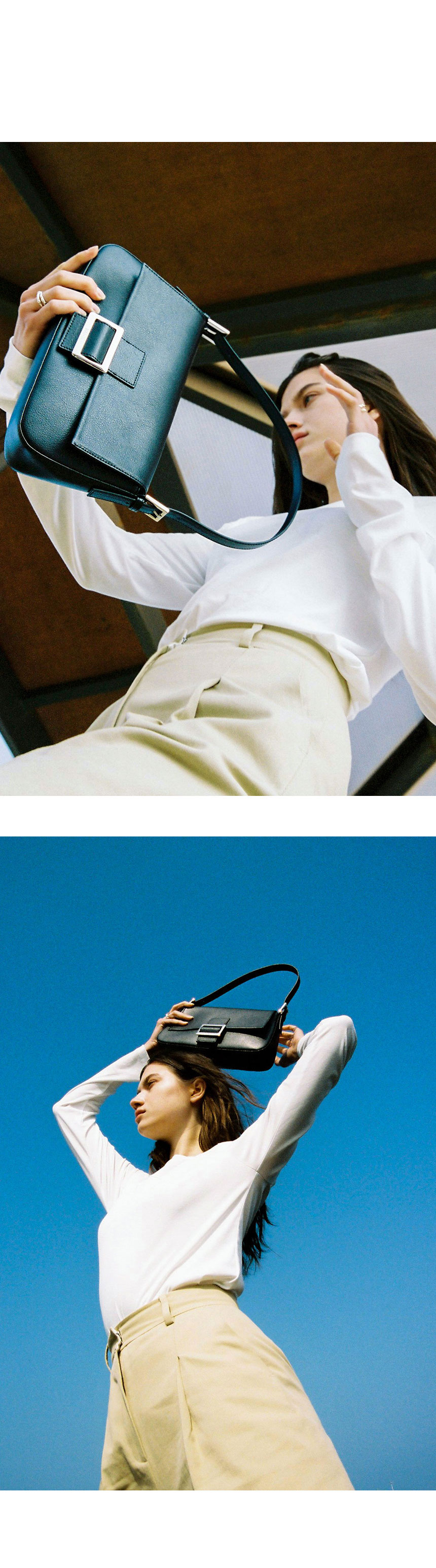 레이브(RAIVE) Real Leather Luke Bag in O/White_VX1SG500-02